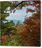 Peeking At The Smokies Canvas Print