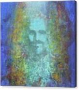 Peeking Thru Maya 2 In Blue Canvas Print