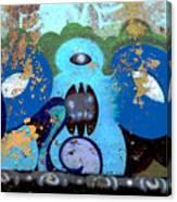 Peeling Graffiti Canvas Print