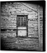Peeling Wall And Cool Window At Fort Delaware On Film Canvas Print