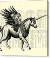 Pegasus Black And White Canvas Print