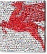 Pegasus Mosaic Canvas Print