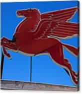 Pegasus Oil Sign Canvas Print