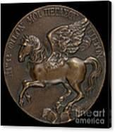 Pegasus Soaring Above Parnassus [reverse] Canvas Print