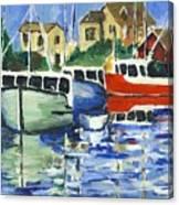 Peggys Cove 3 Fisherman Canvas Print
