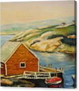 Peggys Cove  Harbor View Canvas Print