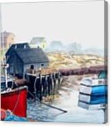 Peggy's Cove Harbour Canvas Print