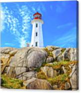 Peggy's Cove Light House Canvas Print