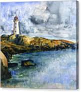 Peggy's Cove Lighthouse Landscape Canvas Print