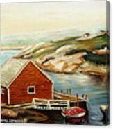 Peggys Cove Nova Scotia Landmark Canvas Print