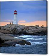 Peggy's Point Lighthouse, Nova Scotia, Canada Canvas Print