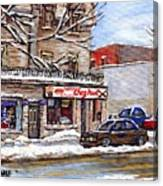 Peintures Petits Formats A Vendre Montreal Original Art For Sale Restaurant Chez Paul The Pointe Psc Canvas Print