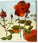 Peka Peka Roses Canvas Print