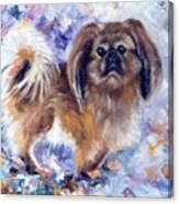 Pekingese Canvas Print