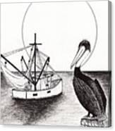 Pelican Fishing Paradise C1 Canvas Print