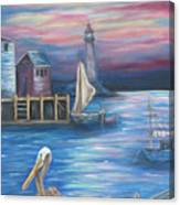 Pelican Port Canvas Print
