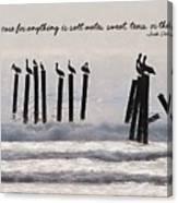 Pelicans Perched Quote Canvas Print