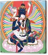Pema Heruka Guhya Jnana Dakini Canvas Print