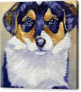 Pembroke Welsh Corgi Pup Canvas Print