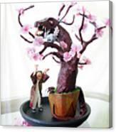 Pen-jing Dragon Plum Tree Canvas Print