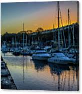 Penarth Harbour In Wales Canvas Print