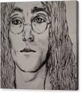 Pencil Portrait Of John Lennon  Canvas Print