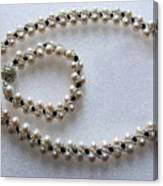Pendant And Bracelet With Beads Canvas Print