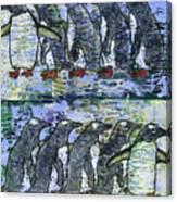 Penguins On Parade Canvas Print