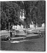 Peniche On River Seine Canvas Print