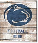 Penn State // Football // Distressed Wood Canvas Print