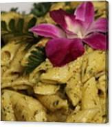 Penne Pasta Dish Canvas Print