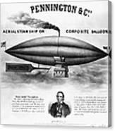 Penningtons Airship, 1850 Canvas Print