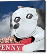 Penny Dog Food Sign 3 Canvas Print