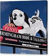 Penny Dog Food Sign 1 Canvas Print