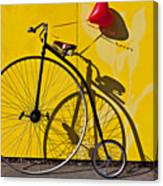 Penny Farthing Love Canvas Print
