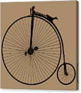 Penny Farthing Sepia Canvas Print