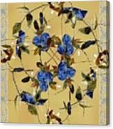 Penny Postcard Silk-stitched Canvas Print