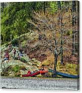 Pennyrile Park Canoes Canvas Print