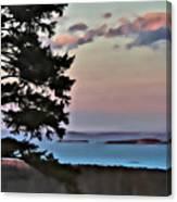 Penobscot Bay At Dusk Canvas Print