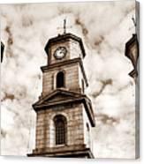 Penryn Clock Tower In Sepia Canvas Print