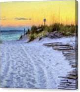 Pensacola Beach Orange Canvas Print