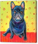 Pensive French Bulldog Painting Prints Canvas Print