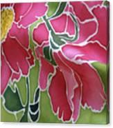 Peonies In The Garden Canvas Print
