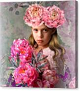 Peony Flower Child Canvas Print