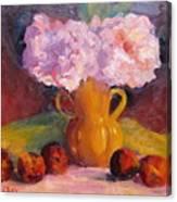 Peonys And Peaches Canvas Print