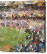 People In A Stadium Canvas Print