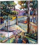 People In Landscape Canvas Print