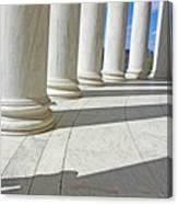 A Man Leaning On A Column Canvas Print