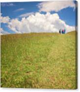 People On The Hill Painterly Canvas Print
