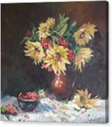 Still-life With Sunflowers Canvas Print
